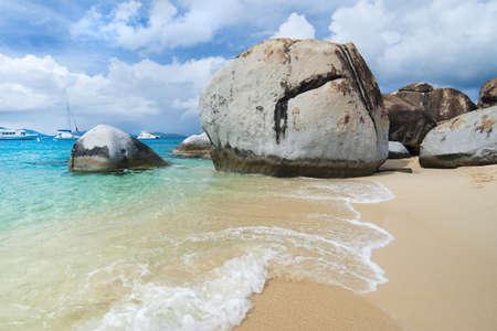 The famous Baths on Virgin Gorda, British Virgin Islands  photo