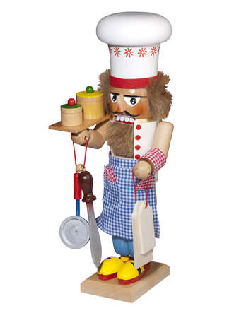 Nutcracker cook on white, isolated  photo