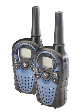 Two walkie talkies