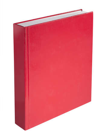 book cover design: Red book, isolated