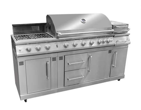 gas stove: bbq grill, isolated