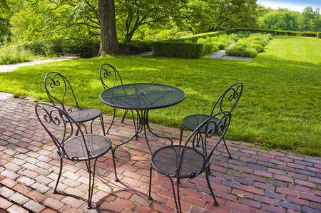 Garden patio photo