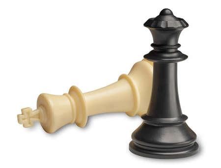 Schachmatt: Schachmatt, game over, isoliert