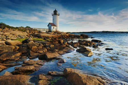 Annisquam lighthouse, Massachusetts Stock Photo