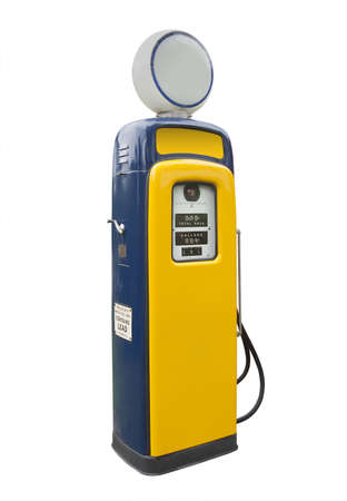 old gas pump from the 1950s and 60s, isolated photo