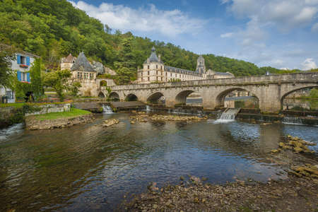 Medieval town of Brantome in the Dordogne department in France Stock Photo - 16154783