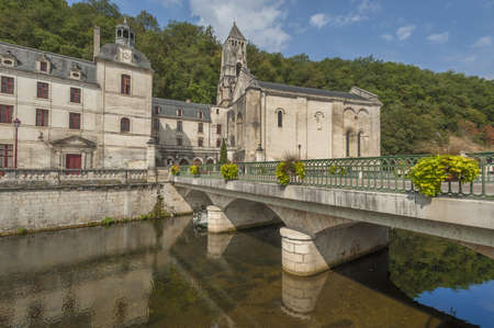 Medieval town of Brantome in the Dordogne department in France Stock Photo - 16322688