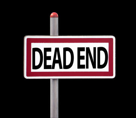 Dead End Sign, isolated on black Stock Photo - 16462299