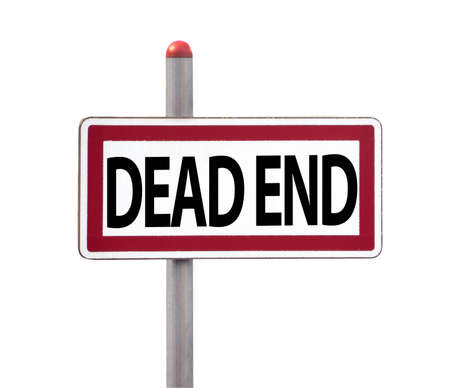 Dead End Sign, isolated on white Stock Photo - 16462301