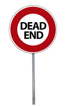 pointless: Dead End Sign, isolated on white Stock Photo