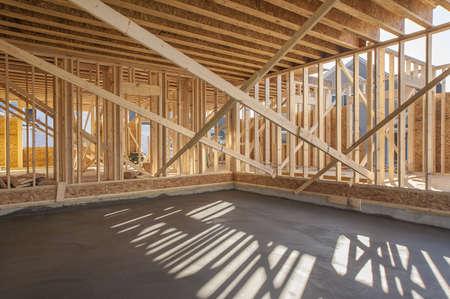 Een nieuw huis in aanbouw in zuid californië royalty vrije foto