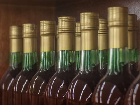 Wine bottle necks with limited depth of field Stock Photo - 16820451