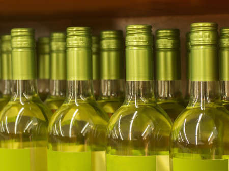 Wine bottle necks with limited depth of field Stock Photo - 16820448