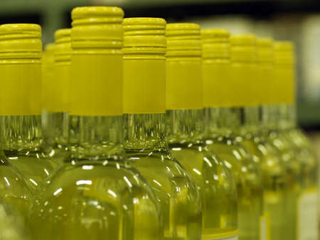 Wine bottle necks with limited depth of field Stock Photo - 16820427