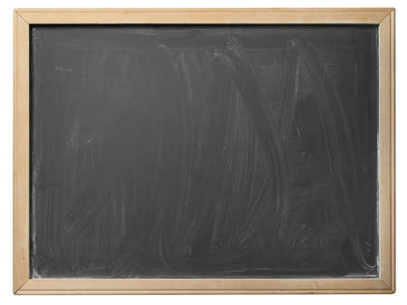 School blackboard isolated on white background Zdjęcie Seryjne - 17018802