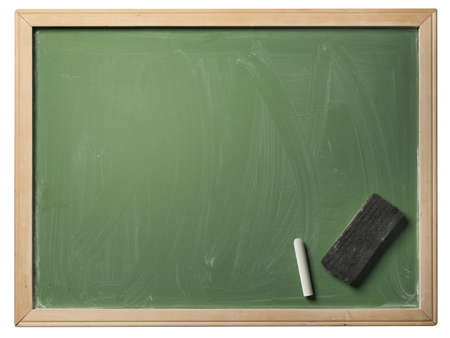 School blackboard isolated on white background  Stock Photo - 17018800