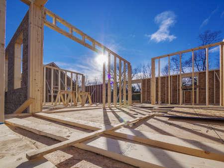 Nieuw Huis Framing Bouw Stockfoto - 17018808
