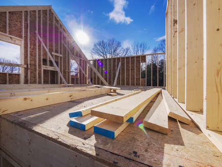 timber frame: New House Framing Construction