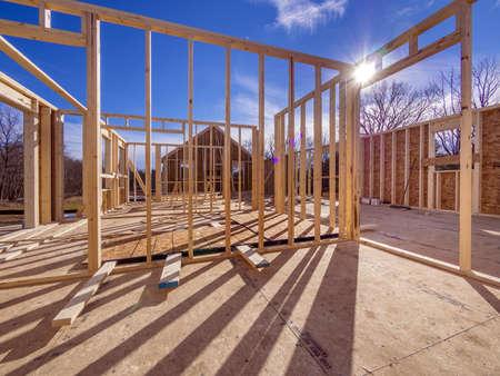 New House Framing Construction Stock Photo - 17018810