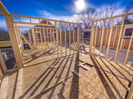New House Framing Construction Stock Photo - 17018811