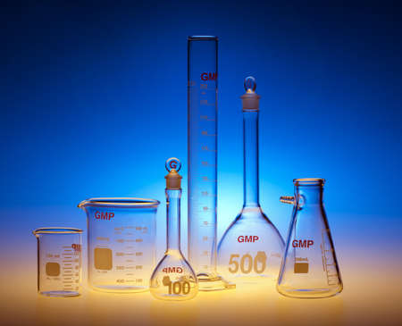 Test-tubes glassware used in chemistry and biology laboratories Stock Photo - 17107193