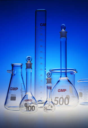 Test-tubes glassware used in chemistry and biology laboratories Stock Photo - 17107196