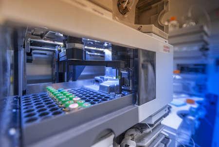 bioteknik: Biotechnology laboratorium hårdvara utrustning Stockfoto