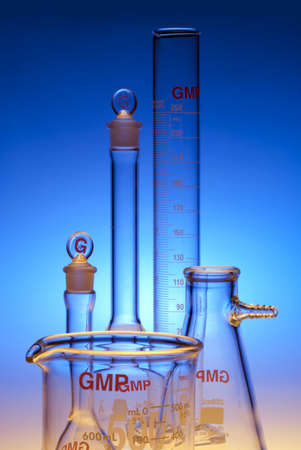 Test-tubes glassware used in chemistry and biology laboratories Stock Photo - 17228156