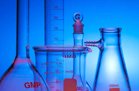 Test-tubes glassware used in chemistry and biology laboratories Stock Photo - 17228157