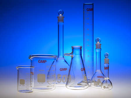 Test-tubes glassware used in chemistry and biology laboratories Stock Photo - 17228155