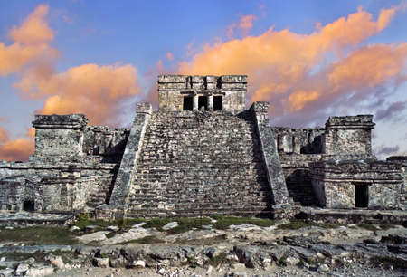 Temple of the wind in Tulum, Mexico Stock Photo - 17380677