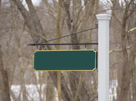 Sign post to new house development Stock Photo - 18446483