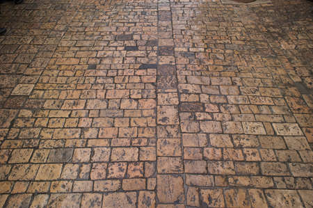 Stone paving texture. Abstract structured background  Stock Photo - 18446615