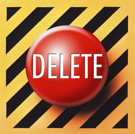 Delete button in red Stock Photo - 18731269