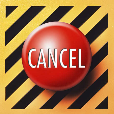 Cancel button in red Stock Photo - 18874107