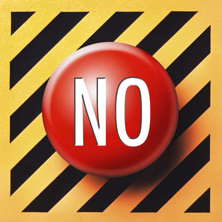 No button in red Stock Photo - 18874103