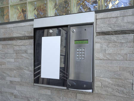 Entrance access keypad and intercom