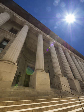 bldg: View of imposing Greek revival building   public gov  bldg