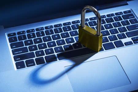 Computer security lock photo