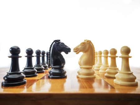 Conflitto di scacchi Archivio Fotografico - 21263552