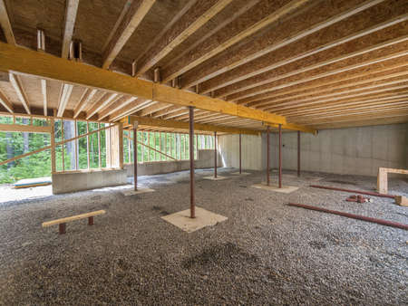 renovation: Basement construction under a new house