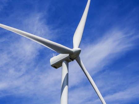 dioxido de carbono: Primer plano de la h?lice de la turbina de viento