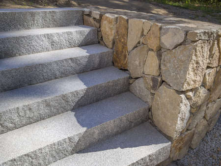 granite stairs or steps photo