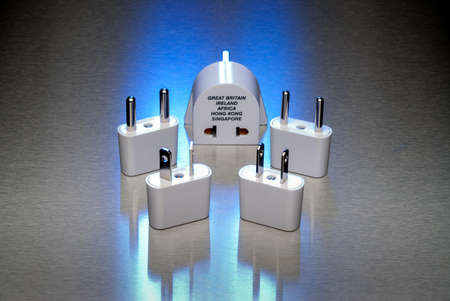 adapters: Power adapters for worldwide use Stock Photo