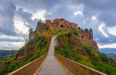etrurian: abandoned village of Bagnoregio, Italy