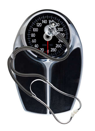 scale and stethoscope  photo