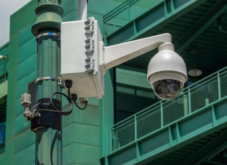 Security camera on lamp post near Fenway Park photo
