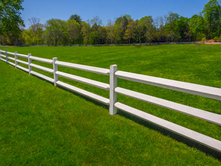 Witte tuinhek Stockfoto