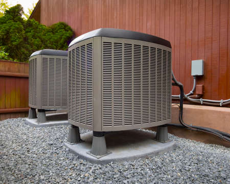 cold air: Hvac air conditioning and heating units