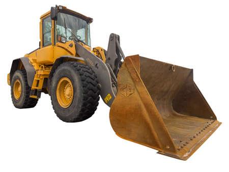 front loader: Pala cargadora sobre blanco, aislados